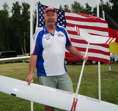 Gordon with his F3B Target at the 2013 World Championships in Dresden Germany.