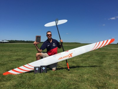 Jody won the prelims at the 2017 F3J Soaring Nationals and finished 2nd after the flyoffs flying Xplorer 3.